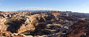 Sandstone Canyons Photos - The Maze  Overlook by Scott Hansen