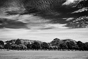 The Hills Prints - The Meadows Public Park In The Centre Of Edinburgh Looking Towards Salisbury Crags And Arthurs Seat Print by Joe Fox