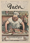 Spoiled Posters - The Meat Market A 1906 Cartoon By Carl Poster by Everett