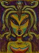 Medusa Mixed Media Metal Prints - The Medusa Metal Print by Russell Pierce