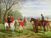 Hunting Painting Prints - The Meet Print by Edward Benjamin Herberte