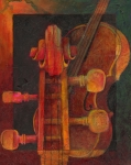 Classical Music Paintings - The Mellow Cello by Susanne Clark
