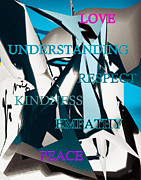 Abstract Expressionist Posters - The Melting Pot Poster by Gerlinde Keating - Keating Associates Inc