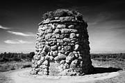the memorial cairn on Culloden moor battlefield site highlands scotland Print by Joe Fox