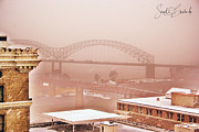 City Photography Paintings - The Memphis Bridge by Sarah Copeland Dalesandro