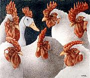 Chicken Paintings - The Mens Club... by Will Bullas