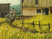 Old Buildings Paintings - The Mercantile by Steve Spencer