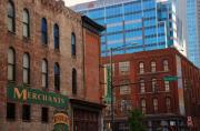 Country Music Town Prints - The Merchants Nashville Print by Susanne Van Hulst