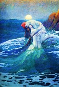 Canvas Reproduction Paintings - The Mermaid by Pg Reproductions
