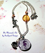 Charm Necklace Jewelry - The Mermaids Pet by Patricia Griffin Brett