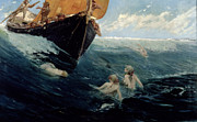 Mythology Painting Posters - The Mermaids Rock Poster by Edward Matthew Hale