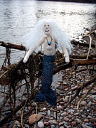 Merman Photo Prints - The Merman Print by Beverley Wickenden
