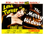 1952 Movies Photo Framed Prints - The Merry Widow, Lana Turner, 1952 Framed Print by Everett