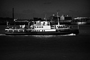 Liverpool Prints - The Mersey Ferry On The River Mersey Liverpool Merseyside England Uk Print by Joe Fox
