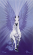 Horses Pastels Prints - The Messenget Print by Kim McElroy