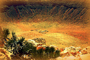 Meteor Prints - The Meteor Crater in AZ 1 Print by Susanne Van Hulst