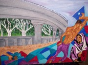 The Trees Mixed Media Originals - The Metro Railway by Iris Devadason