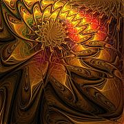Abstract Flowers Digital Art - The Midas Touch by Amanda Moore