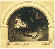 Fairies Framed Prints - The Midsummer Nights Fairies Framed Print by Robert Huskisson