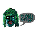Noir Digital Art - The Mighty Boosh - Im Old Gregg by Paul Telling