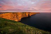 Pierre Leclerc Framed Prints - The Mighty Cliffs of Moher in Ireland Framed Print by Pierre Leclerc