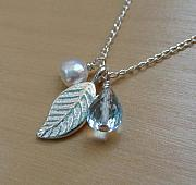 Water Jewelry - The Mighty Leaf by Karen Ericson