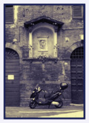 Honor Framed Prints - The Mighty Vespa Framed Print by Karen Lewis