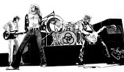 Led Zeppelin Drawings - The Mighty Zep by Anthony Warner