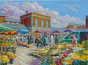 Stalls Paintings - The Milk Market Limerick Ireland by Tomas OMaoldomhnaigh