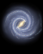 Bars Digital Art - The Milky Way Galaxy by Stocktrek Images