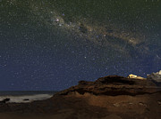 Rock Hill Prints - The Milky Way Over The Cliffs Print by Luis Argerich