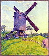 Windmill Paintings - The Mill at Kelf by Pg Reproductions