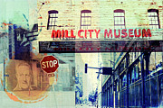 Stop Sign Prints - The Mill District in Minneapolis Print by Susan Stone