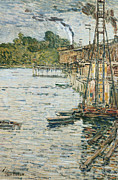Boats On Water Framed Prints - The Mill Pond Framed Print by Childe Hassam