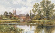 Church Tower Prints - The Millpond Print by Alfred Glendening