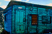 Wooden Building Digital Art Posters - The Miners Shack Poster by David Lee Thompson