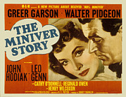 Garson Framed Prints - The Miniver Story, Greer Garson, Walter Framed Print by Everett