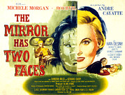 Two Faces Posters - The Mirror Has Two Faces, Aka Le Miroir Poster by Everett