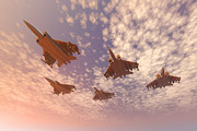 Jet Digital Art - The missing man formation. by Carol and Mike Werner