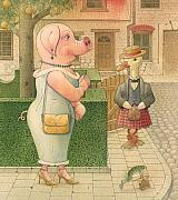Pig Posters - The Missing Picture02 Poster by Kestutis Kasparavicius