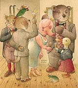 Lovebird Framed Prints - The Missing Picture06 Framed Print by Kestutis Kasparavicius