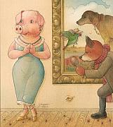 Pig Art Posters - The Missing Picture10 Poster by Kestutis Kasparavicius