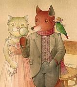 Lovebird Metal Prints - The Missing Picture19 Metal Print by Kestutis Kasparavicius