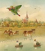 Lovebird Metal Prints - The Missing Picture25 Metal Print by Kestutis Kasparavicius