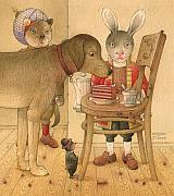 Dog Framed Prints - The Missing Picture27 Framed Print by Kestutis Kasparavicius