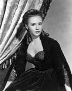 1950s Movies Prints - The Mississippi Gambler, Piper Laurie Print by Everett