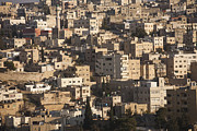 Urban Scenes Prints - The Modern City Of Amman With The White Print by Taylor S. Kennedy