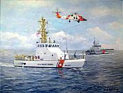 Law Enforcement Paintings - The Modern U. S. Coast Guard by William H RaVell III