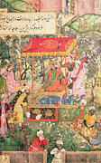 Under The Trees Prints - The Mogul Emperor Babur Print by Indian School