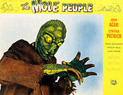1950s Poster Art Framed Prints - The Mole People, 1956 Framed Print by Everett